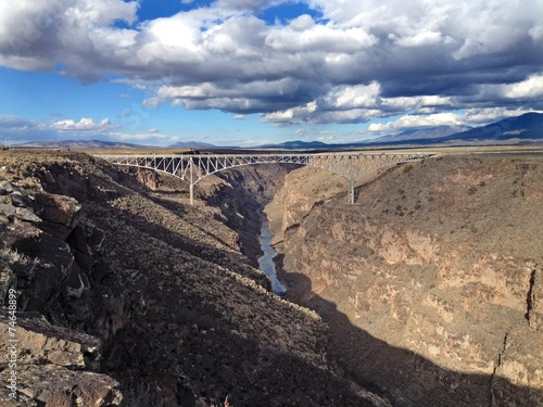 Foto op Plexiglas Caraïben Rio Grande Gorge Bridge in Taos County, NM