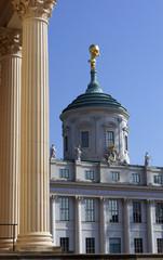 Altlas-Figur auf dem alten Rathaus