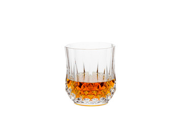 Isolated Whisky in a Crystal Glass