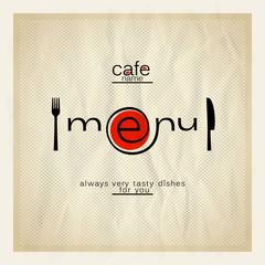 Cafe menu design.