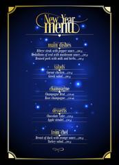 New Year menu list design.