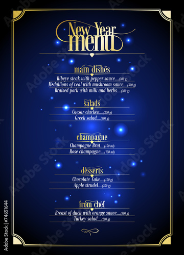 New Year menu list design. - 74651644