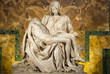 canvas print picture - Michelangelo's Pieta in St. Peter's Cathedral II.