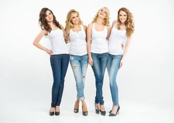 Portrait of four attractive ladies