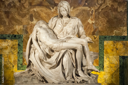 canvas print picture Michelangelo's Pieta in St. Peter's Cathedral II.
