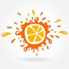 orange splash element