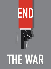 Word END THE WAR