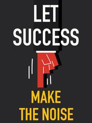 Word SUCCESS vector illustration
