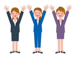 おめでとう 女性 3人