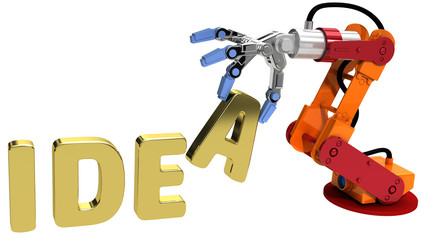 Robot arm technology plan idea concept