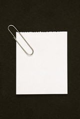 Note Paper With Paperclip