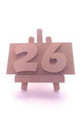 数字・26