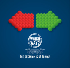 Decision making concept. EPS10.