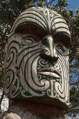 detail of Maori totem