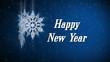 happy new year (snowflake)