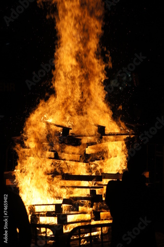canvas print picture Fire