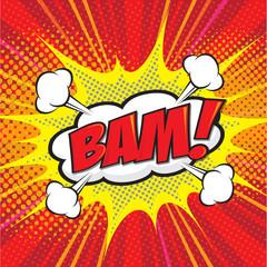 BAM! comic wording design for comic background