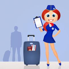 boarding luggage