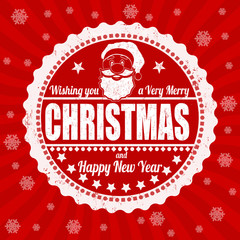 Merry Christmas vintage lettering design