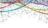 Fototapety falling color confetti