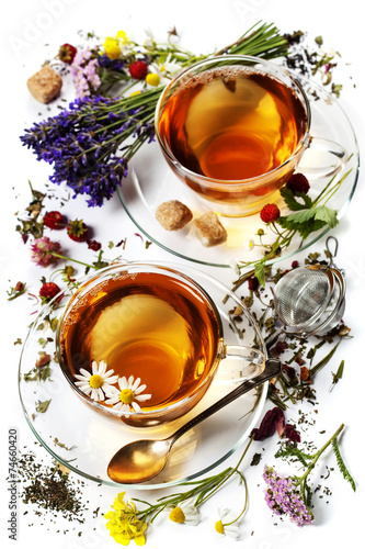 canvas print picture Herbal tea