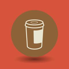 Paper cup symbol, vector