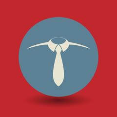 Tie symbol, vector