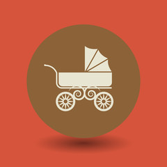 Baby Carriage symbol, vector