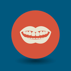 Mouth symbol, vector