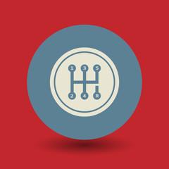 Gearshift symbol, vector