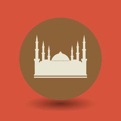 Mosque symbol, vector