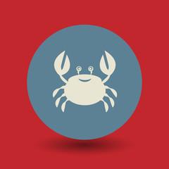 Crab symbol, vector