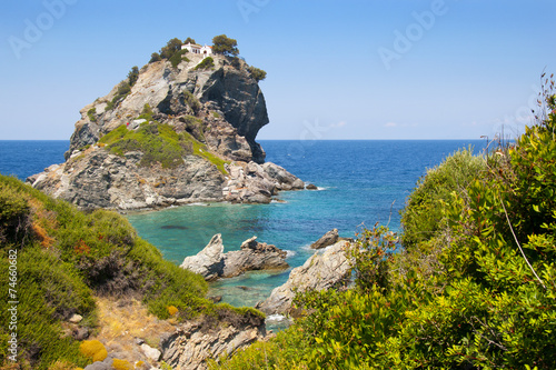 Leinwanddruck Bild Saint John in Skopelos