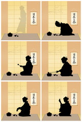 Japanese tea ceremony scenes