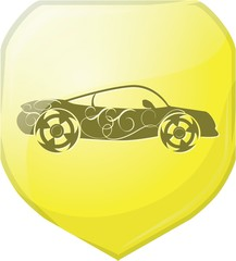 sports car icon symbols