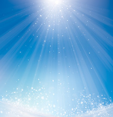 Vector  winter sparkle background.