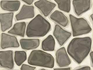 Vector seamless texture of  grey stonewall.