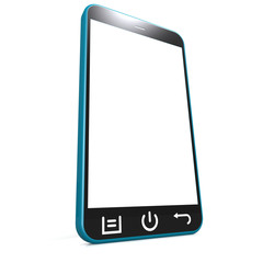 Blue smartphone