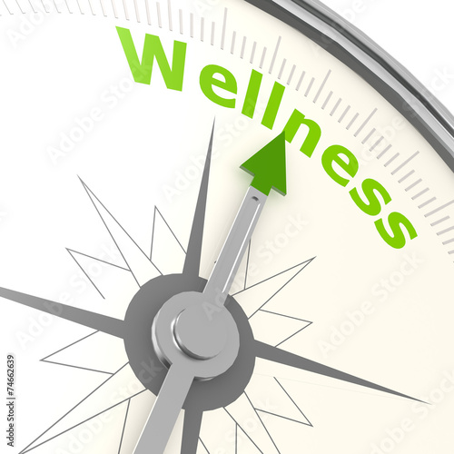 canvas print picture Wellness compass