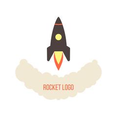 rocket launch logo isolated on white background