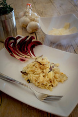 risotto with red chicory
