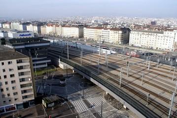 Blick vom Hauptbahnhof Wien