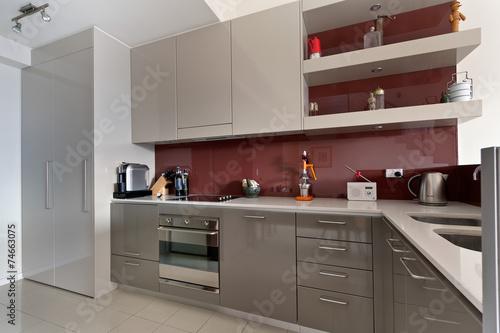 Zdjęcia na płótnie, fototapety, obrazy : modern gourmet kitchen interior