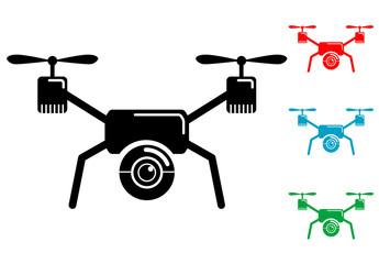 Pictograma drone con varios colores