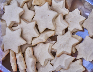 star shaped Christmas cookies closeup