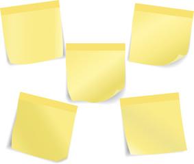 Set of stick notes. Vector illustration