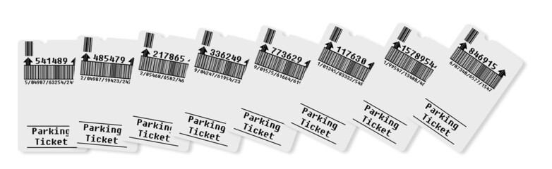 Ticket for parking area (concept image)