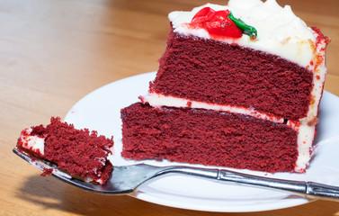 Rich red velvet cake