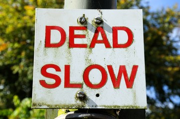Dead slow road sign © Arena Photo UK