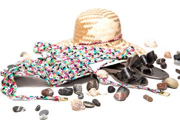 женская шляпа на белом фоне